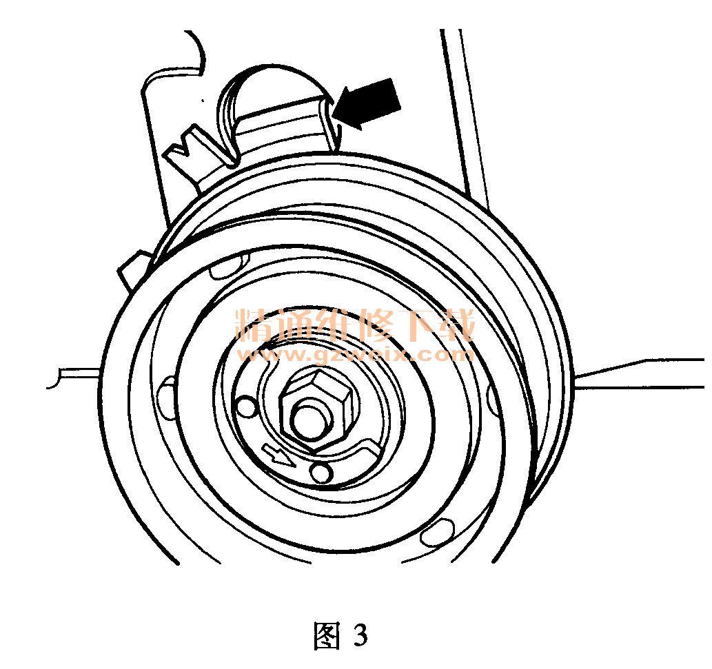 bjz)发动机正时校对方法