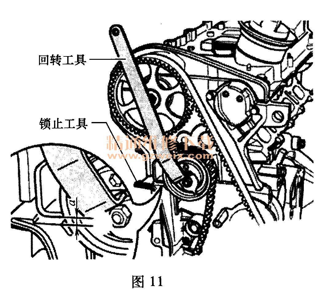 大众速腾(1. 8t bpl)发动机正时校对方法