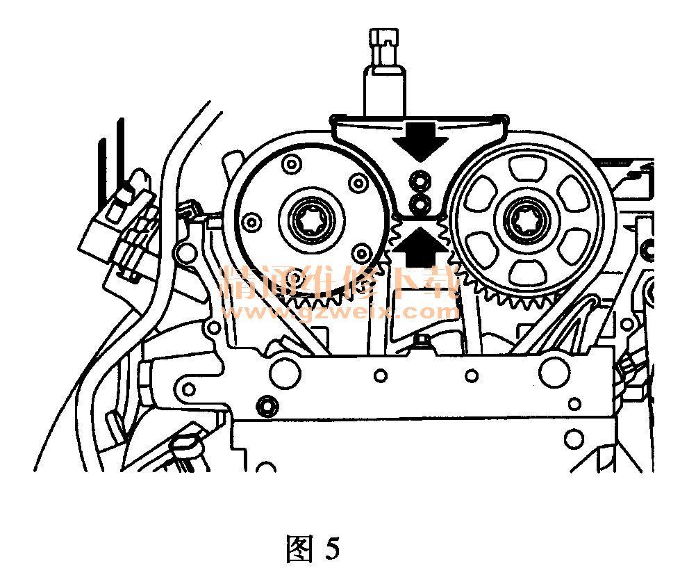正时 传动带拆卸方法   荣威350正时没有专用工具怎么对?   高清图片