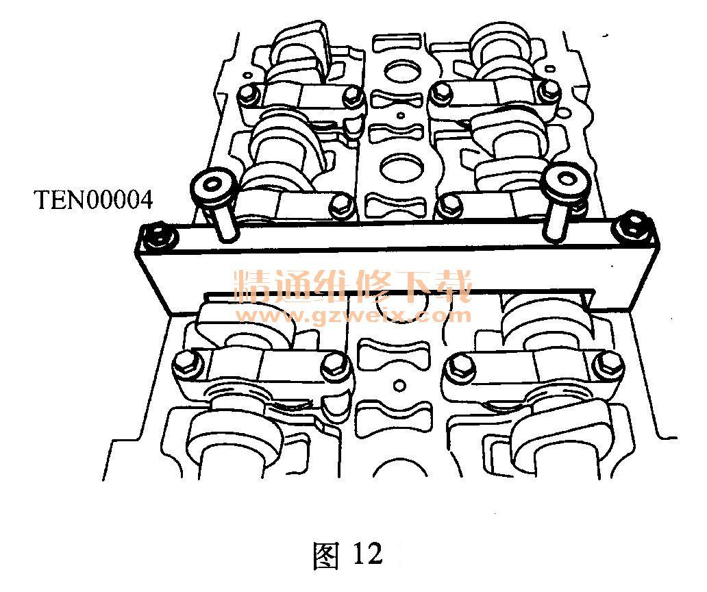 上汽 荣威 350 1 .5l nse 发动机 正时 传动带 安装高清图片