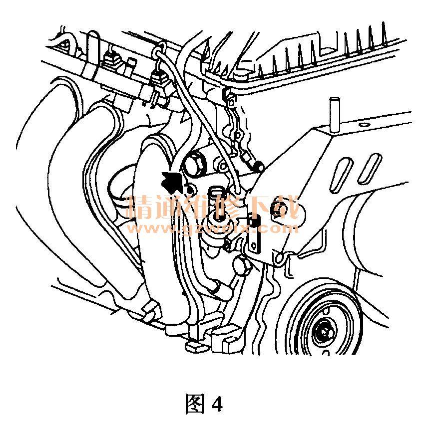 (12)将进气调相器和排气凸轮轴链轮拧紧在凸轮轴上,排气凸轮高清图片