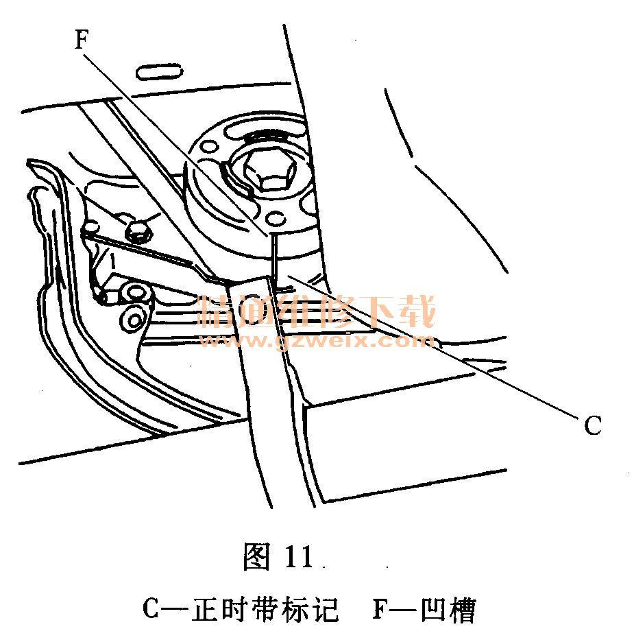 标致307 1.6l tu5jp4 发动机正时校对方法 高清图片