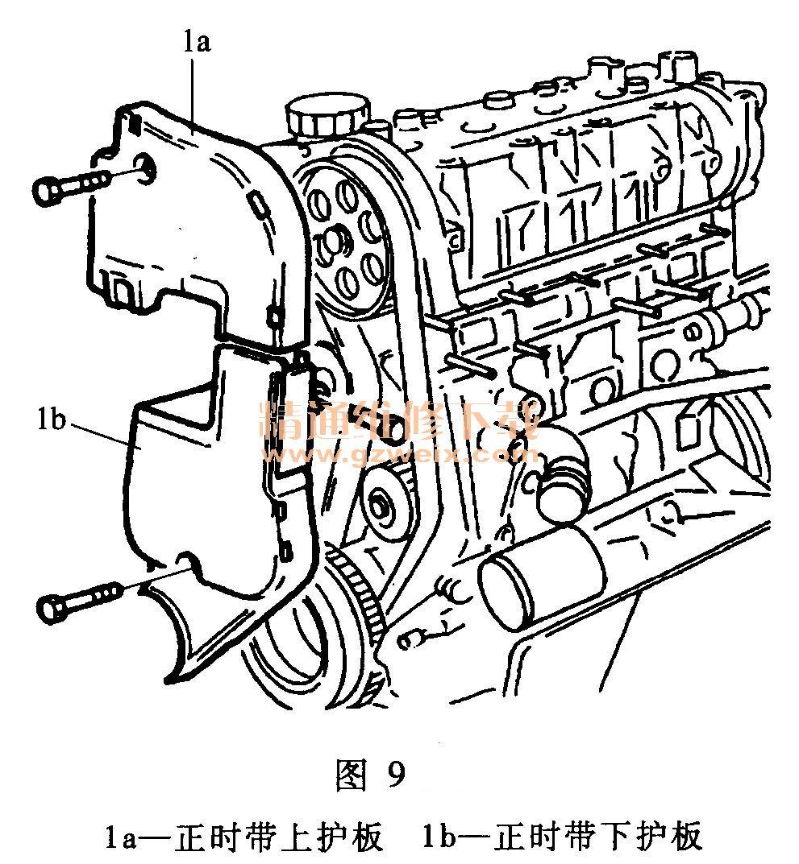 菲亚特派力奥 1 3 l 1242 发动机正时校对方法 高清图片
