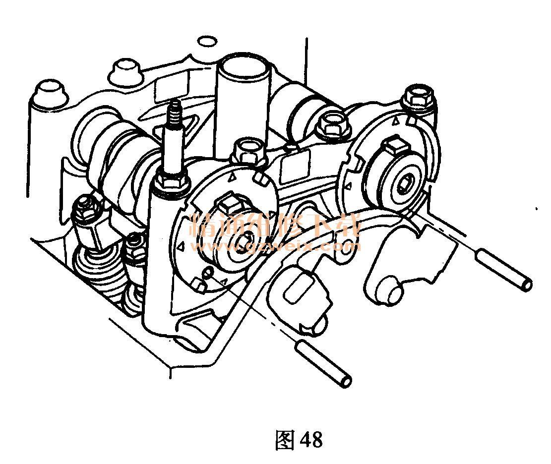 本田雅阁(2. 4l k24z2/k24z3)发动机正时校对方法图片