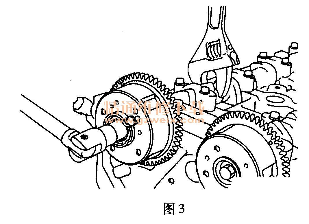 三菱翼神(2. 0l 4b11)发动机正时校对方法
