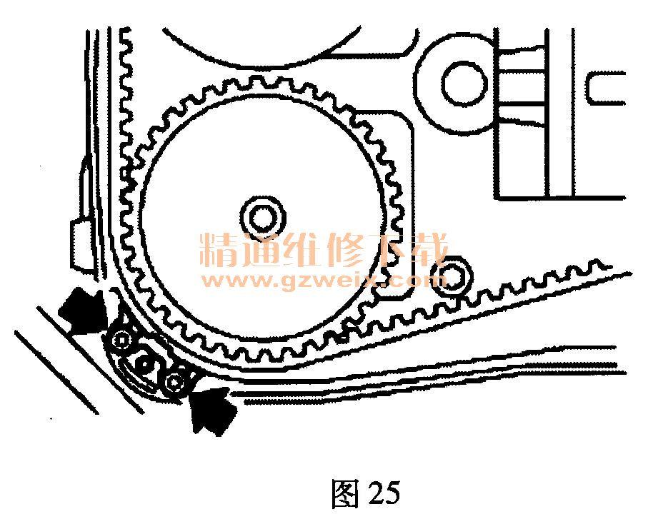 斯巴鲁森林人(2.0l ej20)发动机正时校对方法