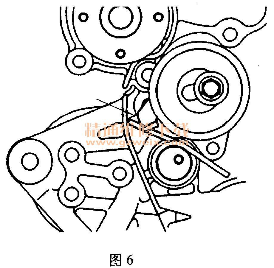 比亚迪f3(4g18/4g15s)发动机正时传动带安装方法