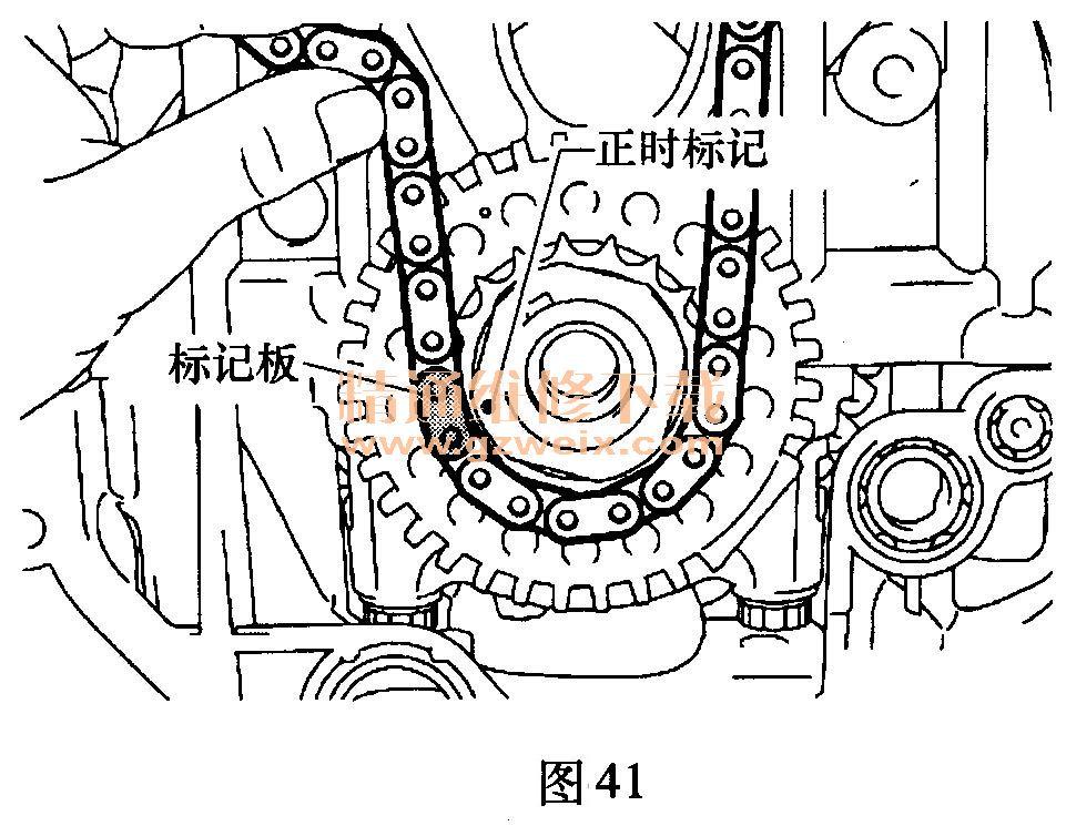 丰田汉兰达(2.7l 1ar- fe)发动机正时校对方法