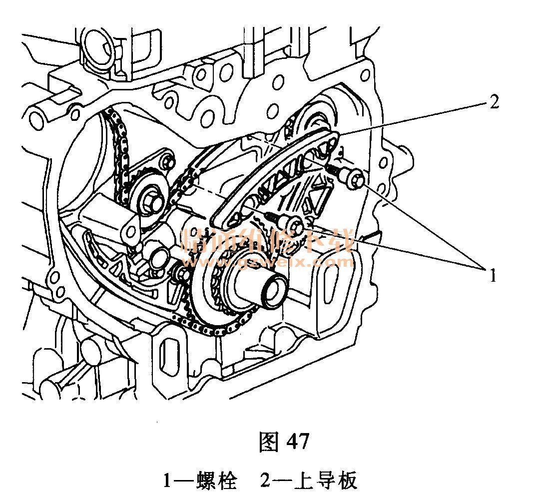 别克君越(2.4l laf)发动机正时校对方法
