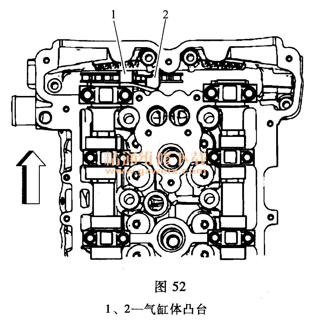 别克君越 2.4l laf 发动机正时校对方法高清图片