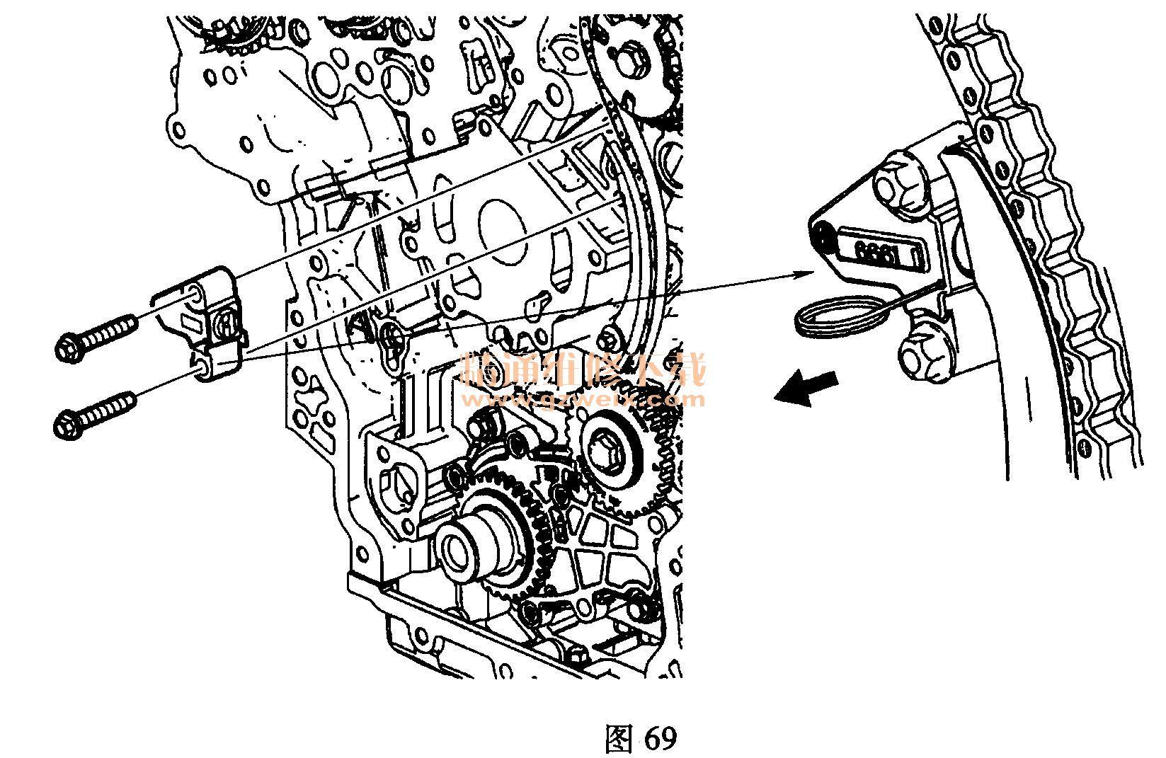 别克林荫大道(3. 0l lf1)发动机正时校对方法