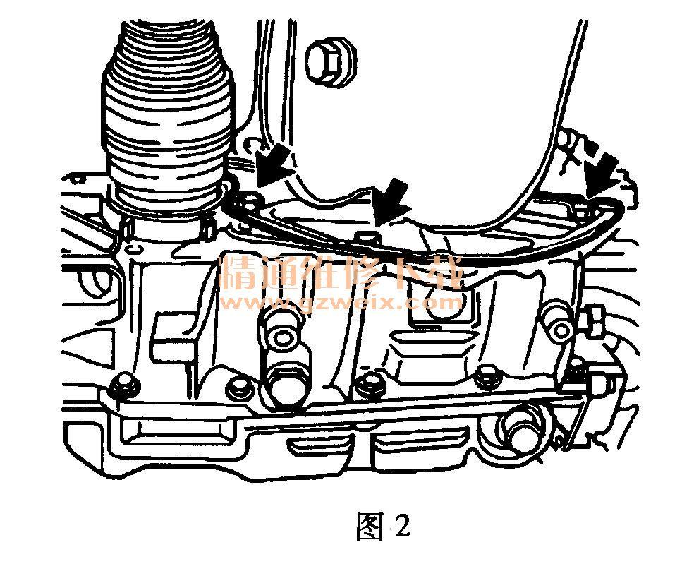 雪佛兰赛欧(1.6l c16ne)发动机正时校对方法