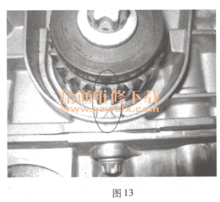 雪佛兰科鲁兹(1. 6l lde)发动机正时校对方法
