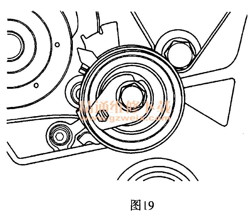 雪佛兰科帕奇(2. 4l)发动机正时校对方法