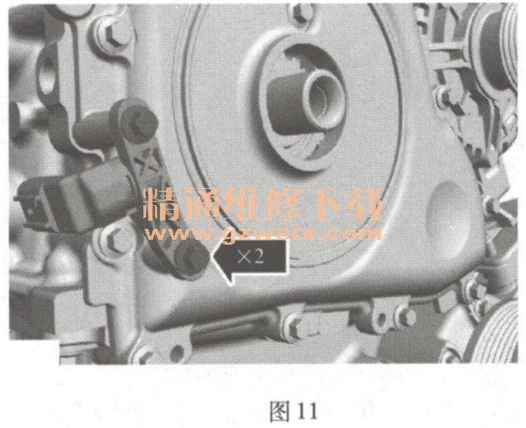 福特蒙迪欧致胜 2. 0T EcoBoost 发动机正时校对方法高清图片