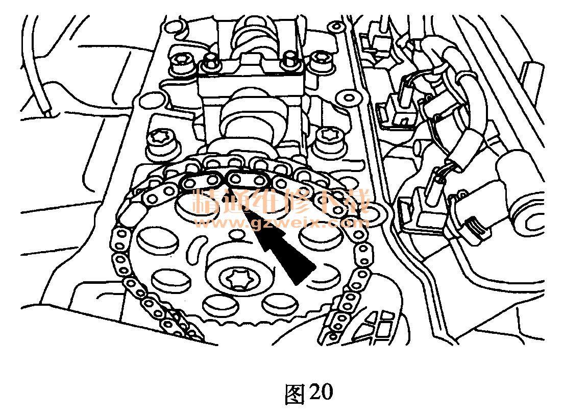 福特嘉年华(1. 3 l a9ja)发动机正时校对方法