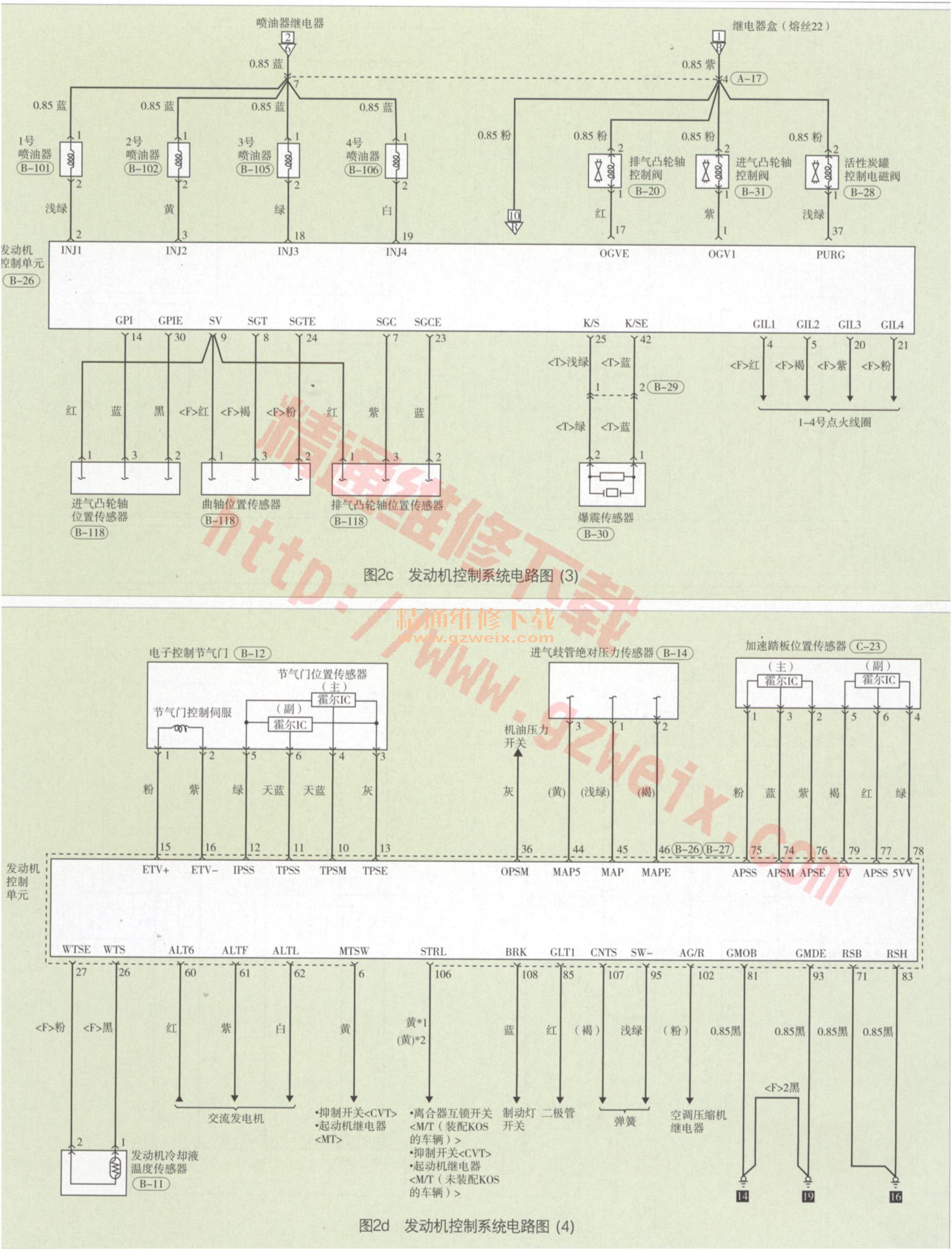 菱新劲炫ASX电路图 发动机冷却系统电路图高清图片