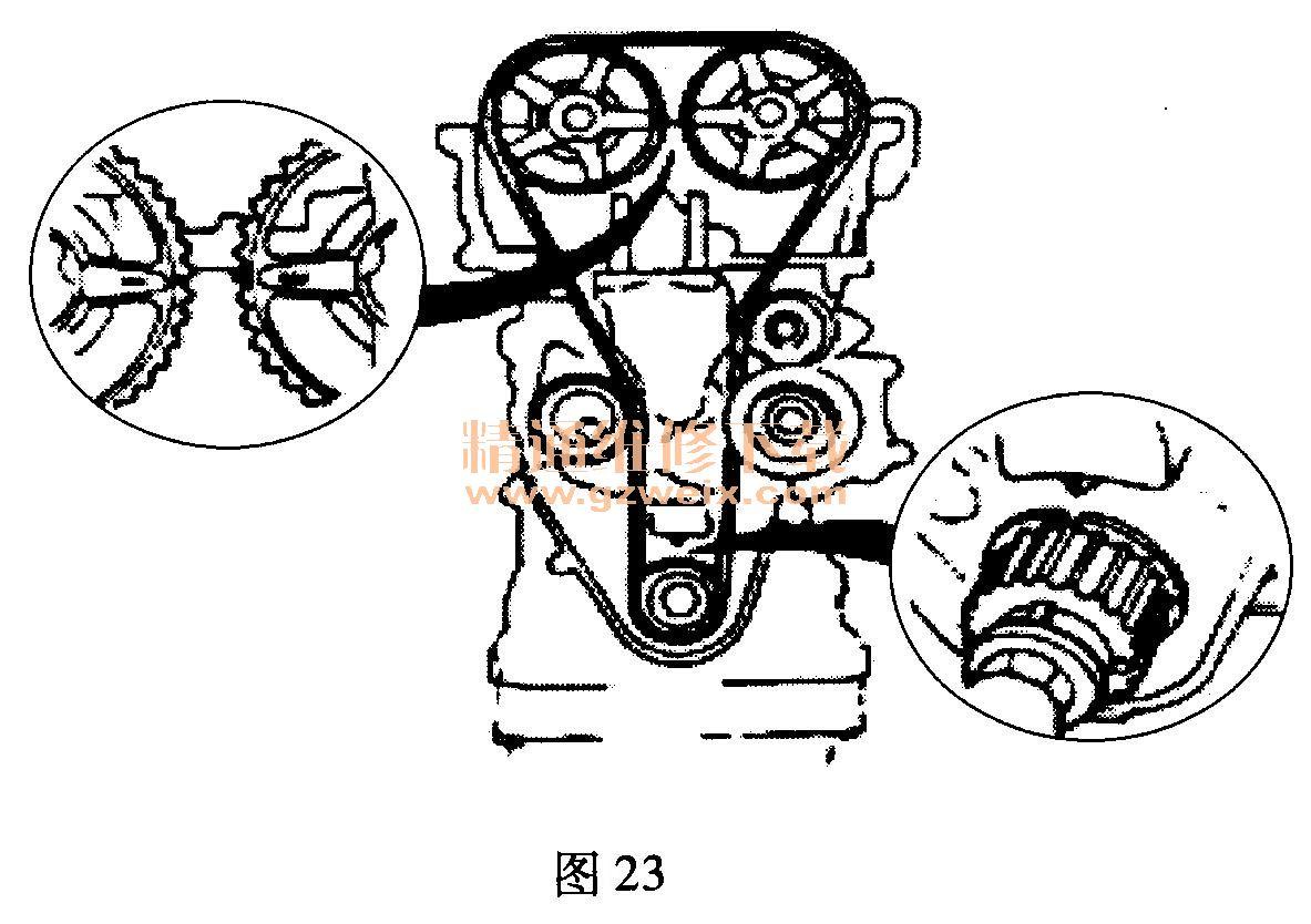 比亚迪l3/g6(483)发动机正时传动带拆卸方法