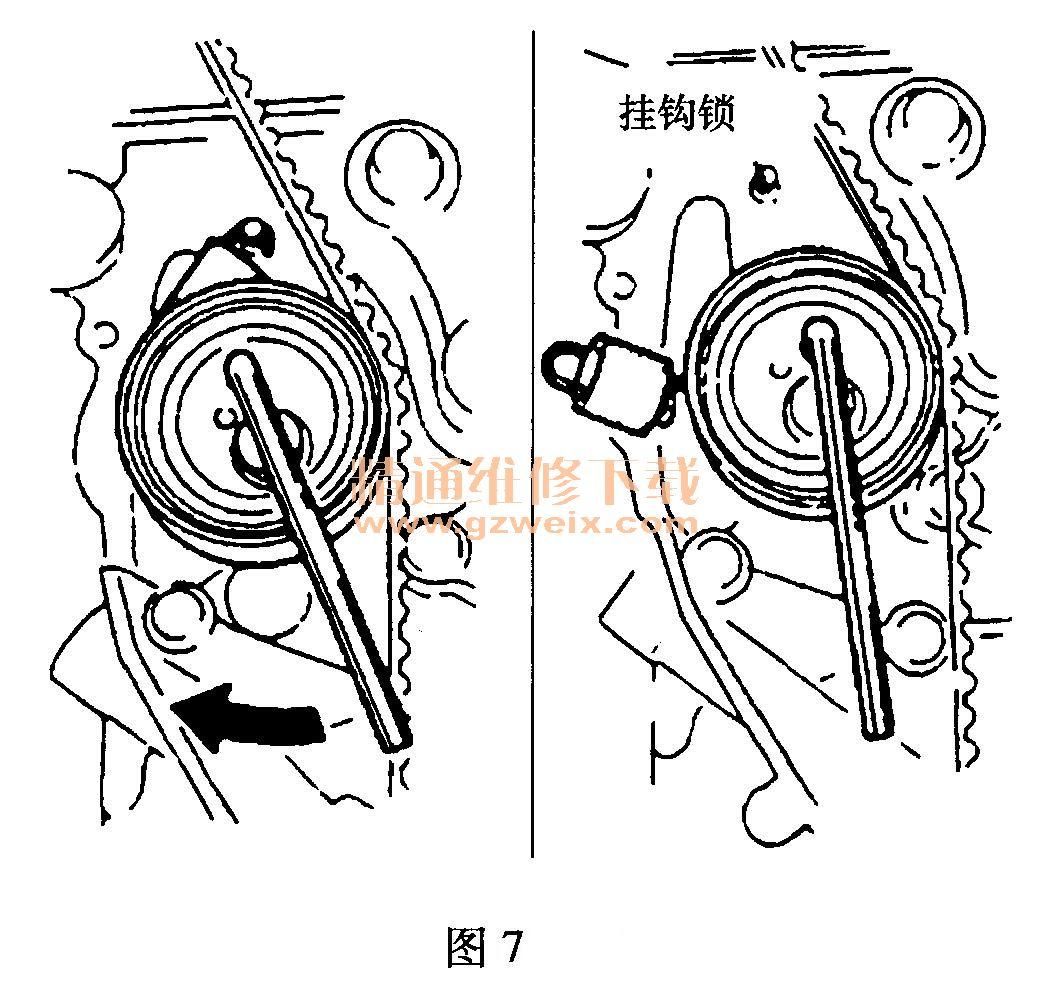 海马普利马发动机正时链条拆卸方法
