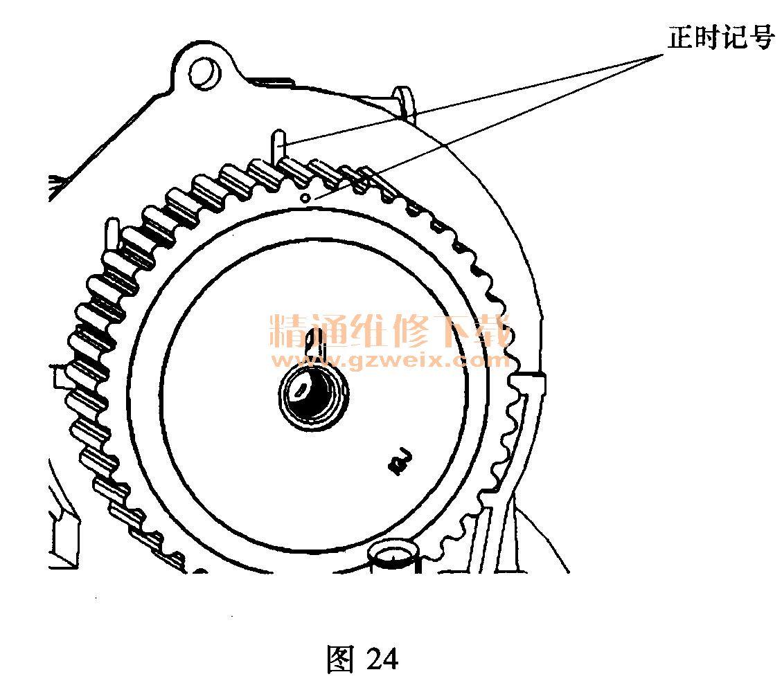 奇瑞QQ 0. 8L SQR372 发动机正时链条安装方法高清图片