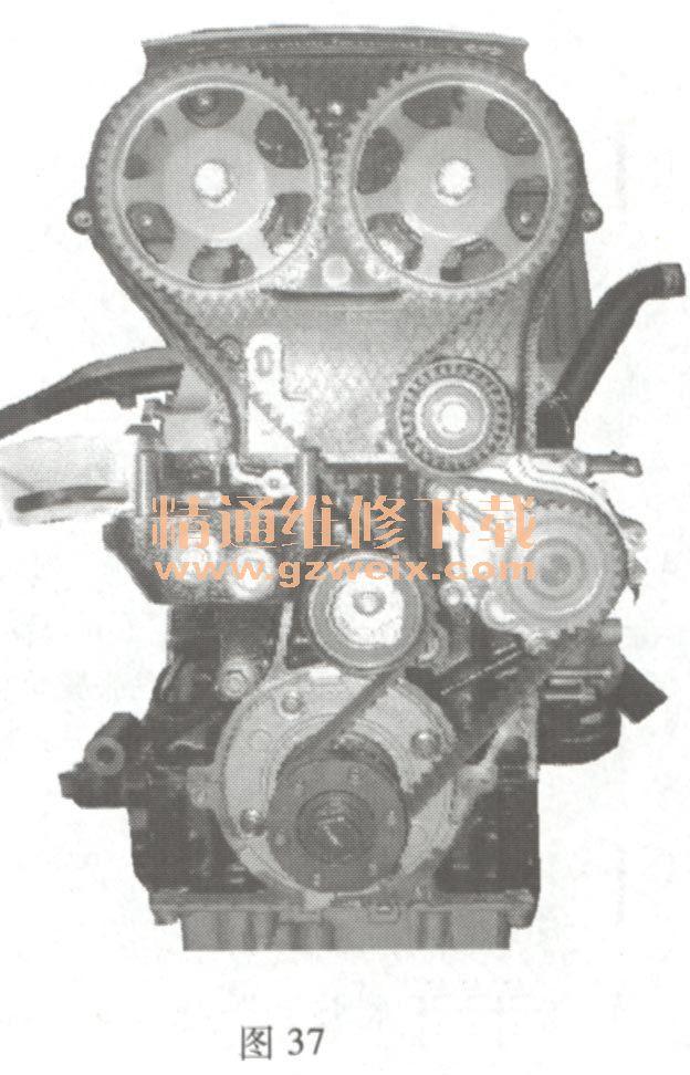奇瑞QQ 1 .3 L SQR473 发动机正时链条安装方法高清图片