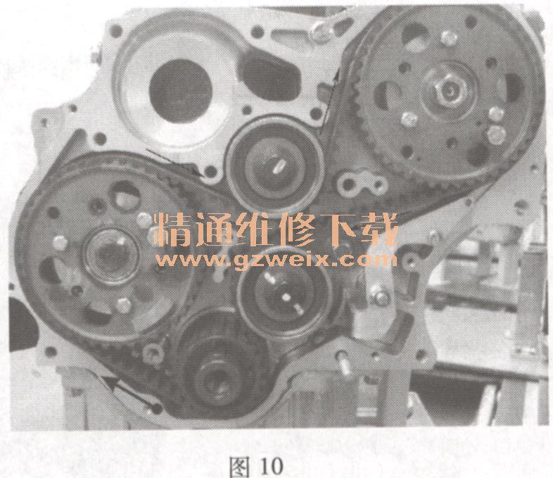8TC 发动机正时链条安装方法高清图片