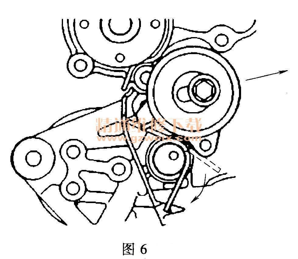 中华骏捷frv 1. 8l 4g18 发动机正时校对方法 高清图片