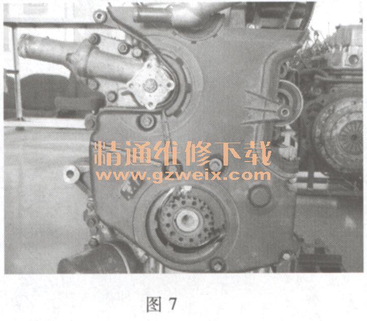 江淮瑞风(2. 4l hfc4ga1)发动机正时链条拆卸方法