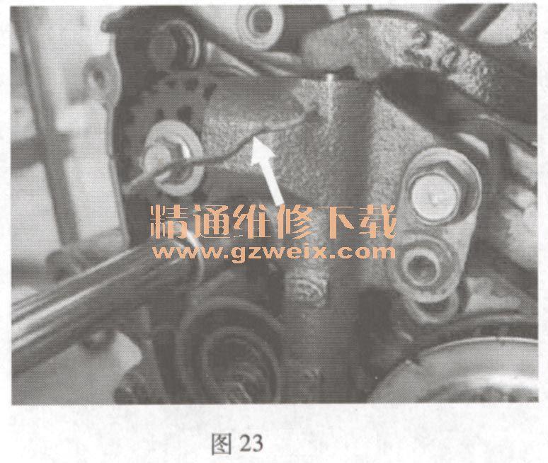 江淮宾悦(2. 4l hfc4ga1)发动机正时链条安装方法