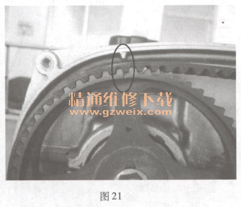GA1 发动机正时链条安装方法高清图片