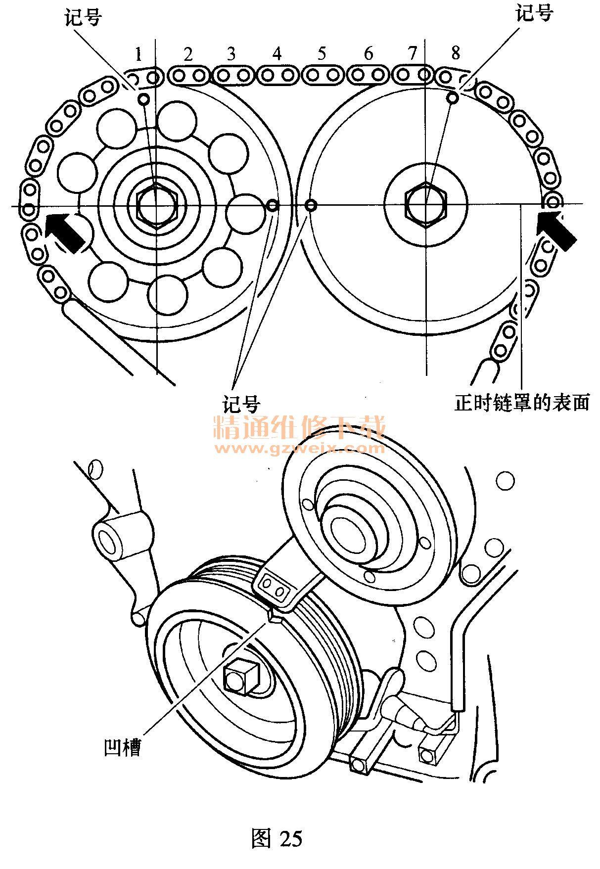 4g18d)发动机正时链条拆卸方法