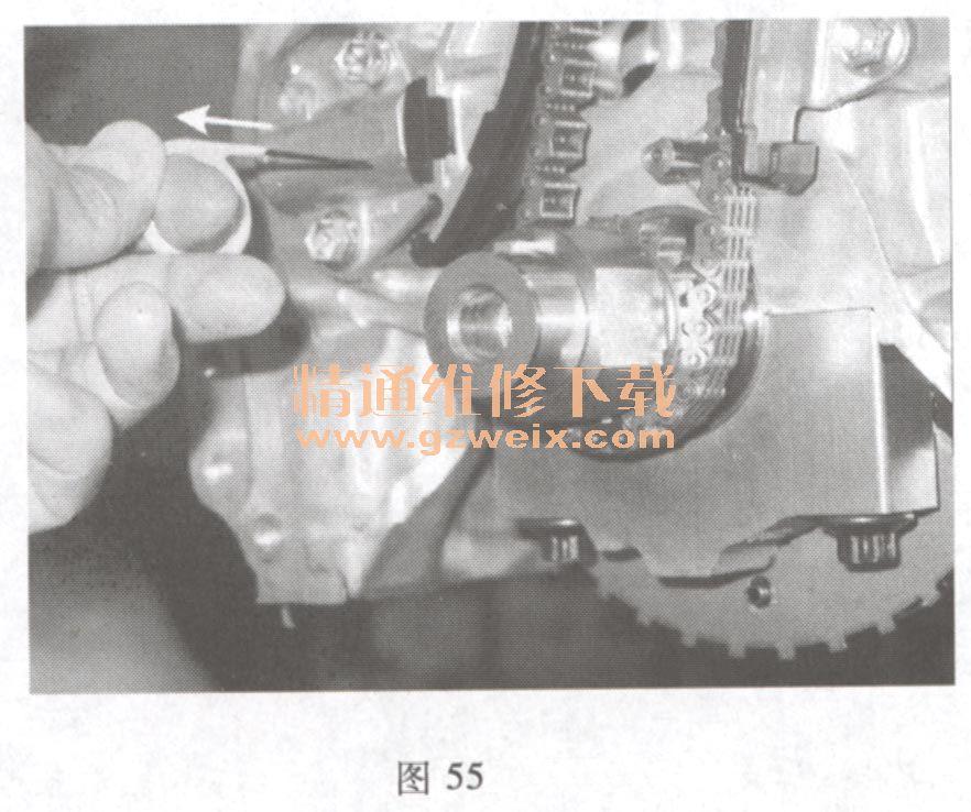 长安铃木奥拓 1. 0L K10B 发动机正时校对方法高清图片