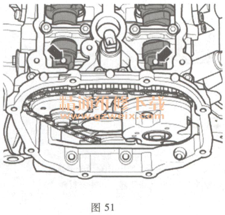 奥迪a6 2.4l bdw 发动机正时校对方法高清图片