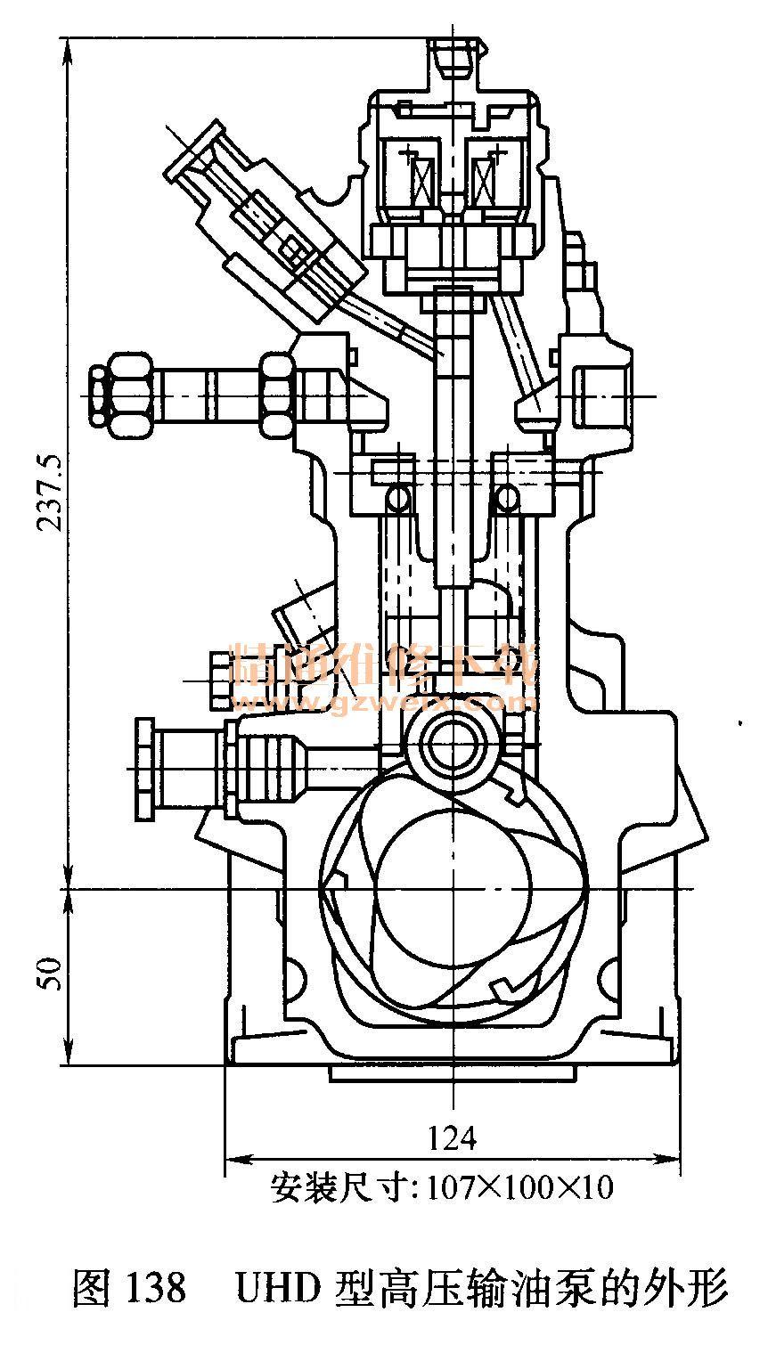 气缸盖由合金铸铁材料制造而成的,一缸一盖,每缸采用4气门进排气系统,每缸4气门的设计使喷油分布更均匀,充气系数更高,有效地降低了排放;气缸盖上进排气道分布于两侧,进气道能够产生一定的旋流。 气缸盖上采用镶入喷油器衬套结构,对改善喷油嘴的散热,提高喷油嘴的工作可靠性十分有利;冷却液流入气缸盖后,全部通过鼻梁区的水腔,然后流经喷油器衬套进入气缸体内的出水腔,冷却效果良好。