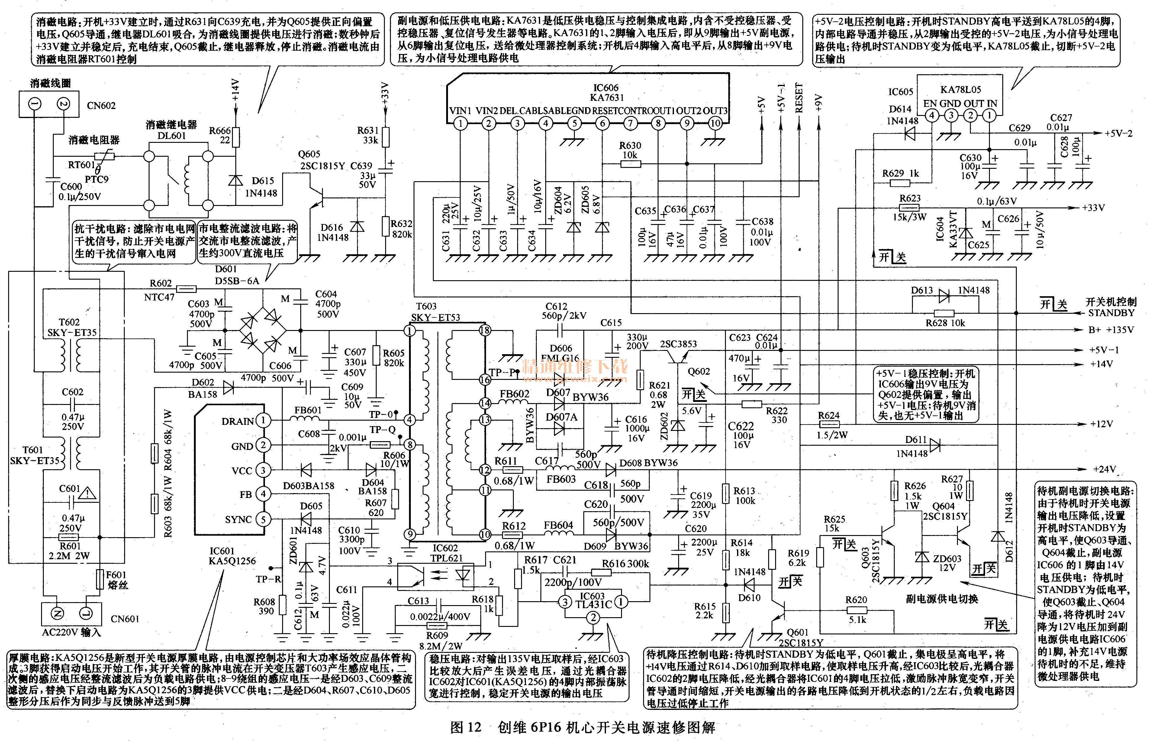 创维6p16机芯开关电源