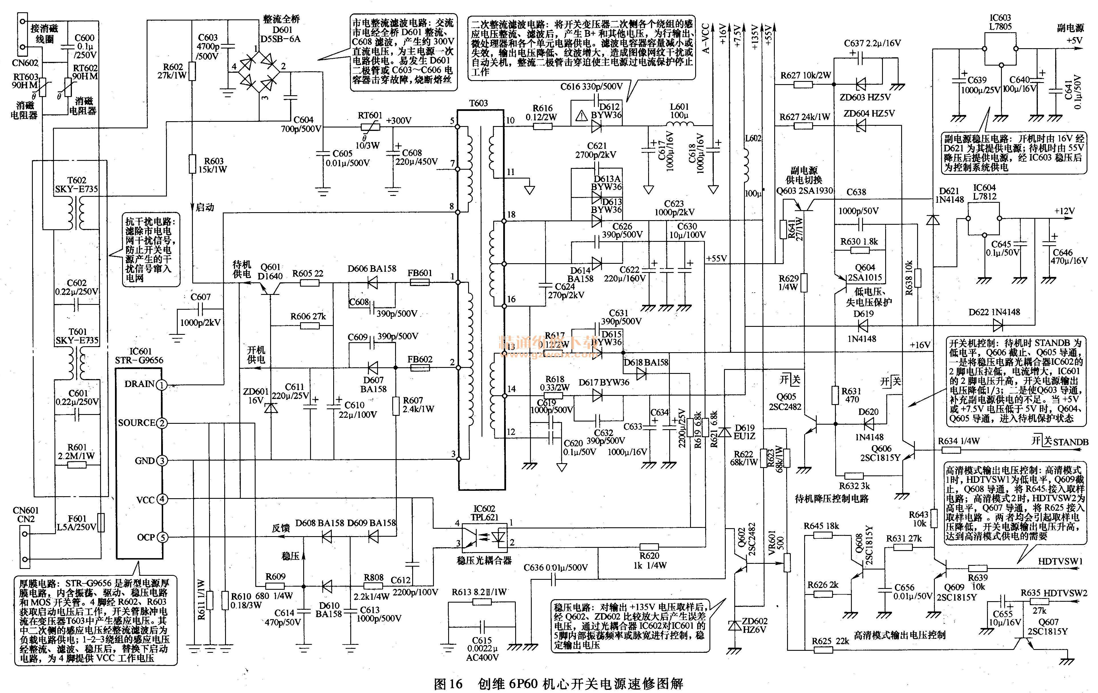 创维6p60机芯开关电源