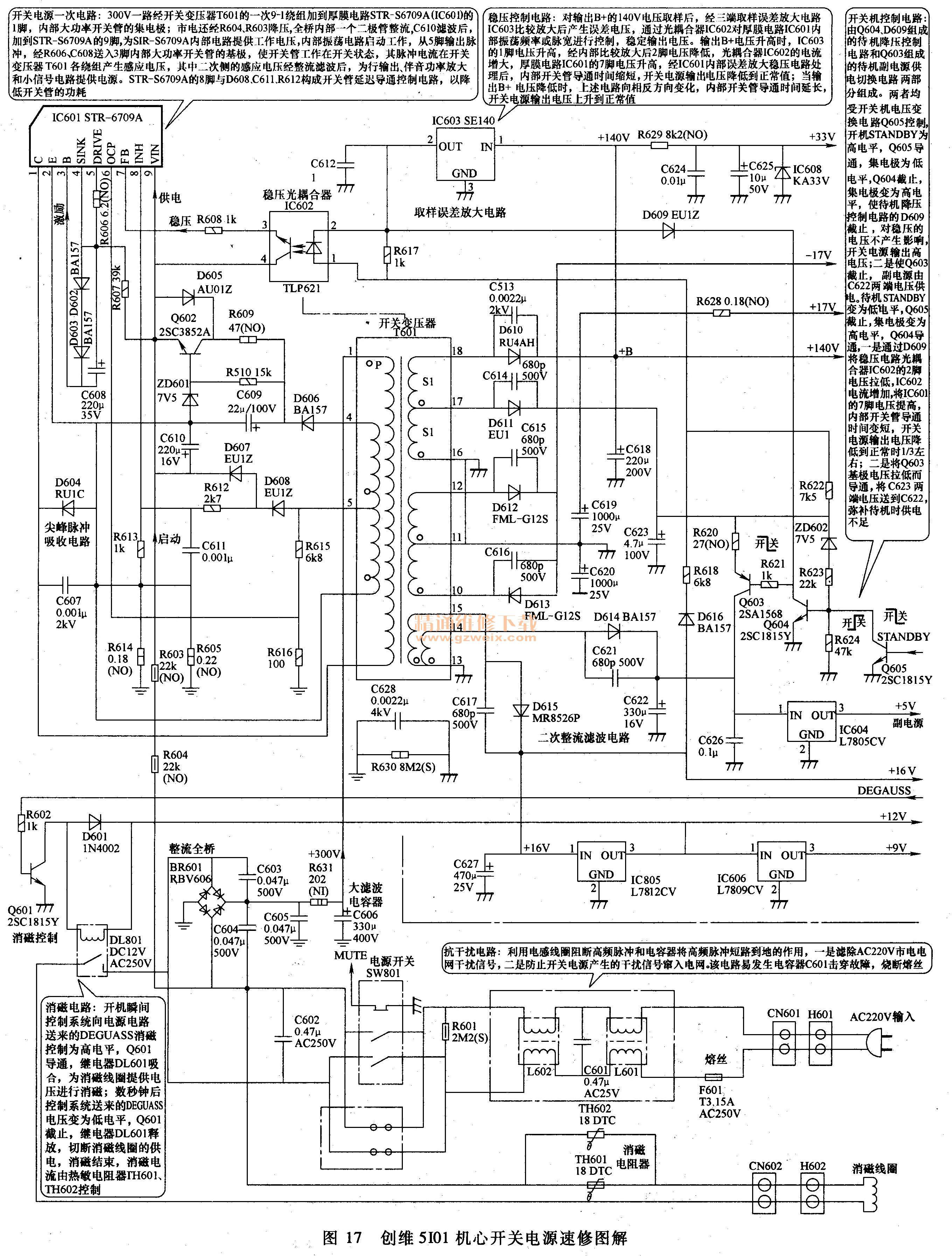 创维5i01机芯开关电源