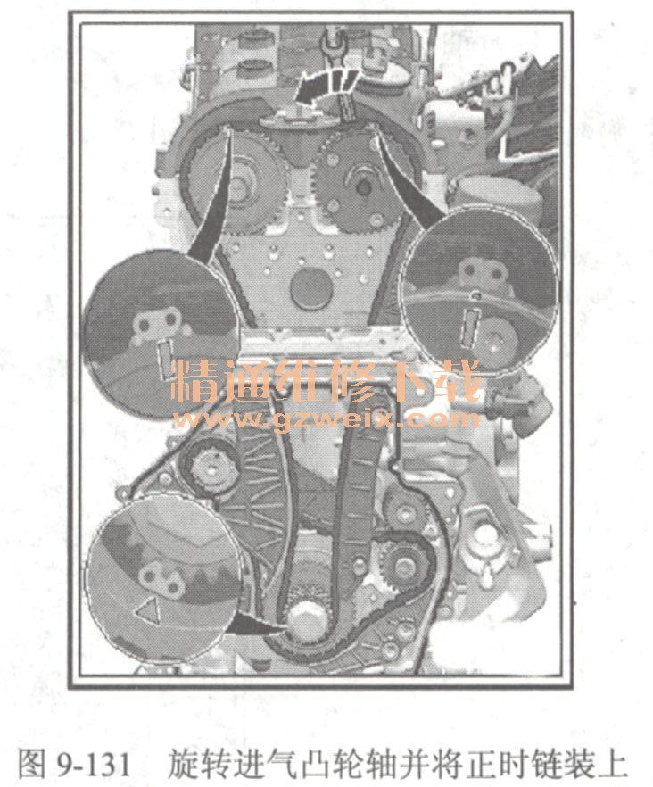 大众迈腾yjibye 1.8 l4缸 型涡轮增压发动机正时高清图片