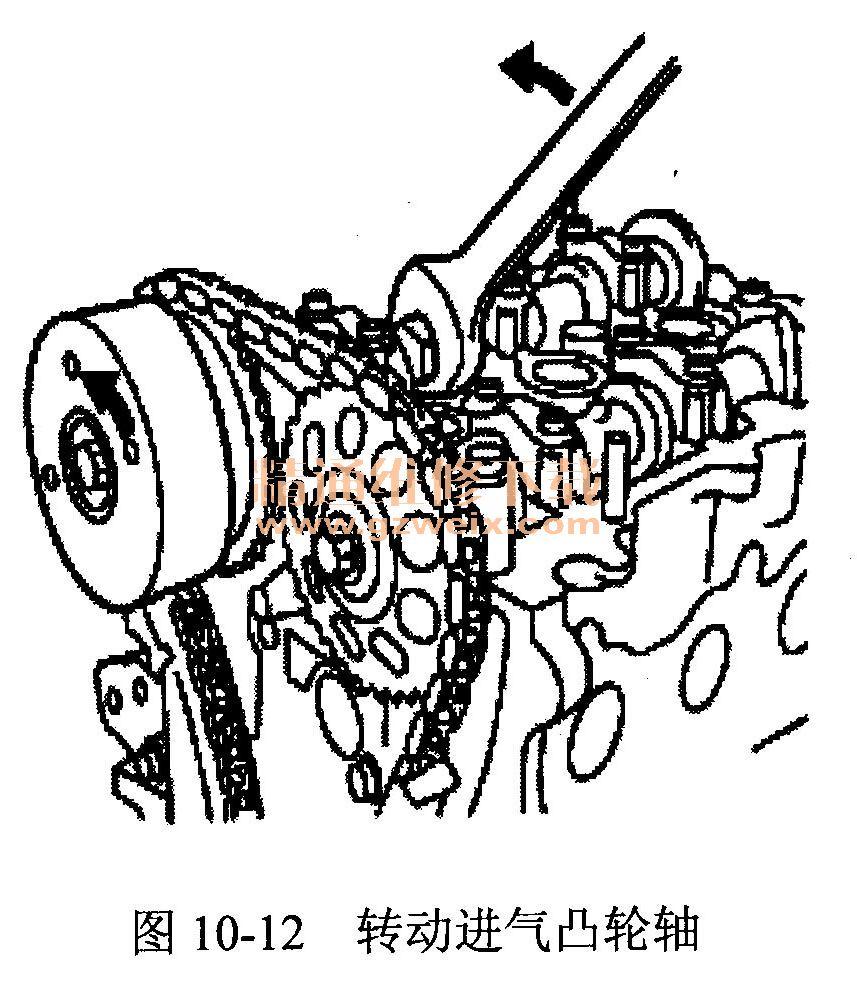 比亚迪f0(371qa(1.0 l)型发动机)正时校对方法