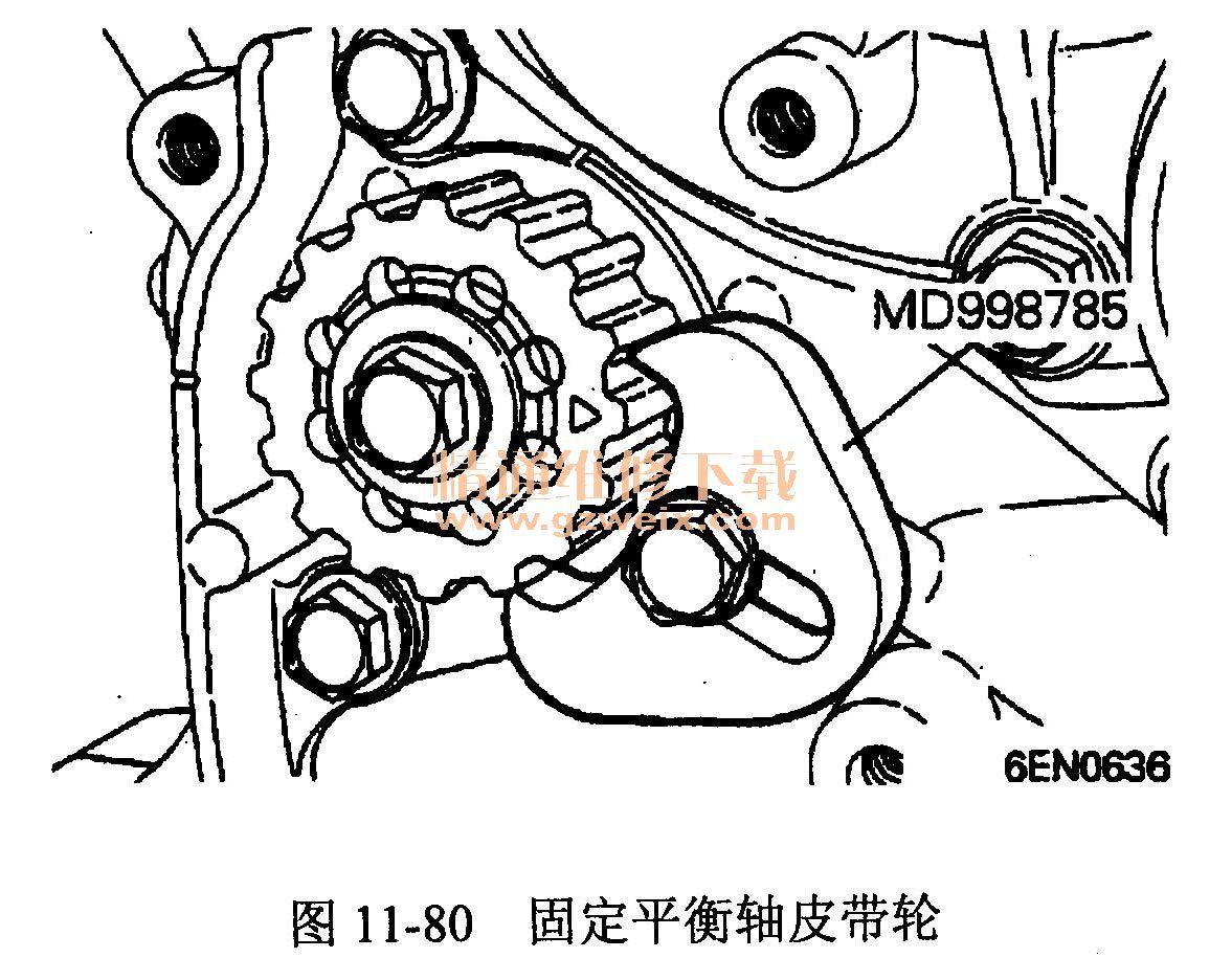 奇瑞东方之子(4g63/4g64发动机)正时校对方法