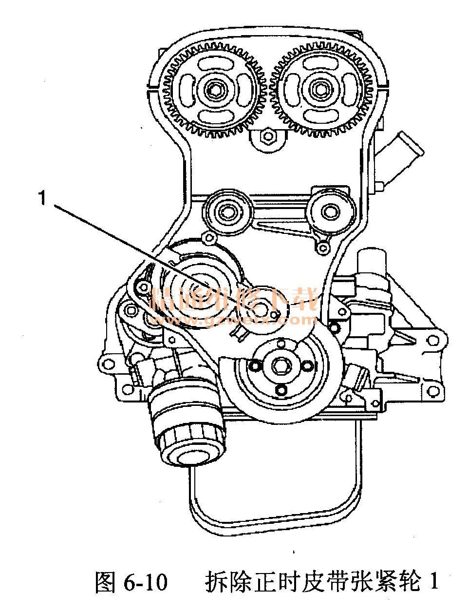 别克君威 l34 2.0 l型发动机 正时校对方法 精 高清图片
