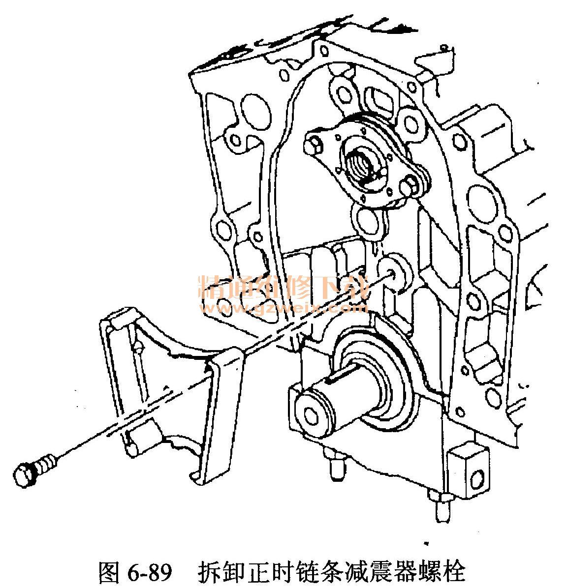 别克陆尊(lw9 3.0 l型发动机)正时校对方法