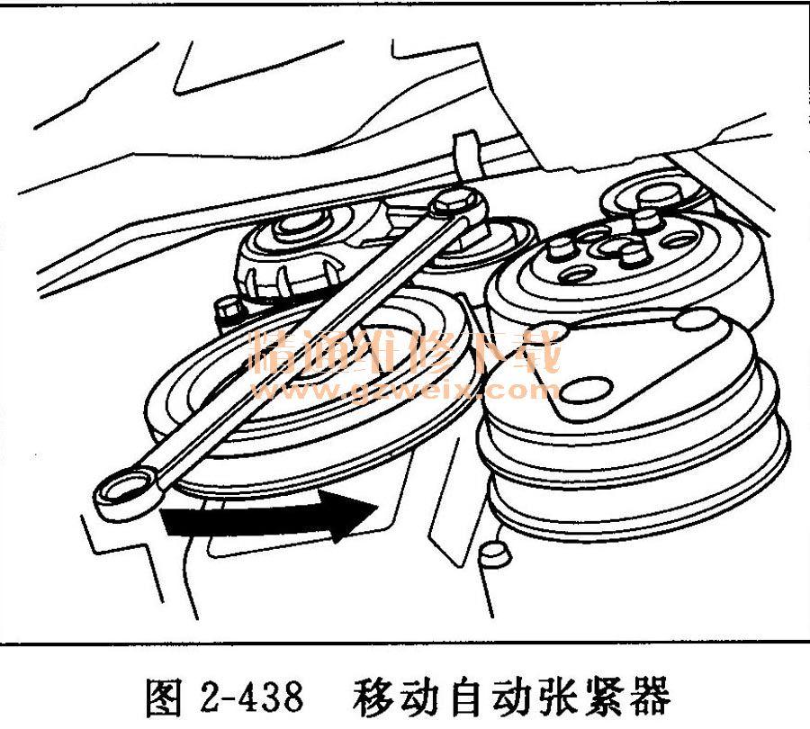 2.4.3充电系统 1)系统常见故障排除表(见表2-9)  (2)充电系统指示灯电路故障排除 将点火开关转至ON(II)位置。 充电系统指示灯是否点亮? 是→转至步骤。 否→转至步骤14。 启动发动机。将发动机转速保持为2000r/min达1min。 充电系统指示灯是否熄灭? 是→充电系统指示灯电路正常。转至交流发电机和调压器电路故障排除。 否→转至步骤。 执行仪表控制单元自诊断功能程序。 充电系统指示灯是否闪烁? 是→转至步骤。 否→
