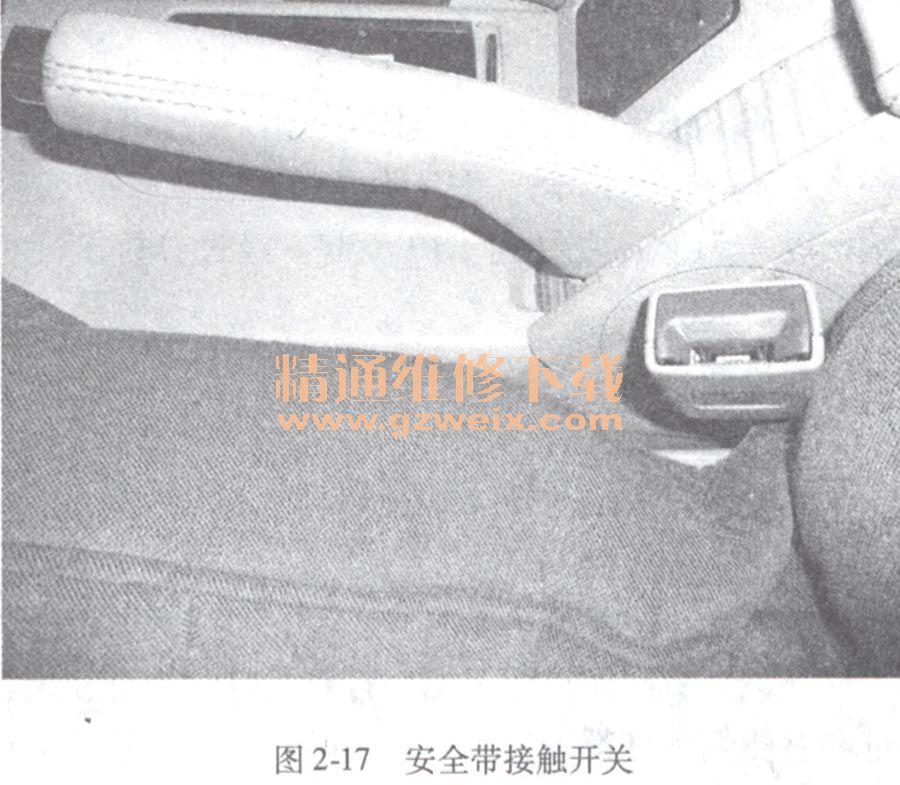 大众帕萨特领驭安全带指示灯不亮高清图片