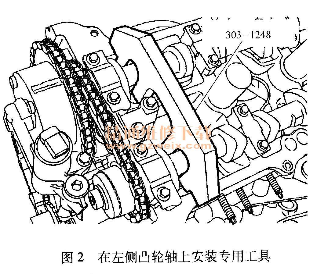3.5L发动机正时校对方法高清图片