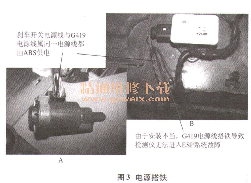 制动灯开关的结构改变电路图也做相应改变(2007年6月份起),制