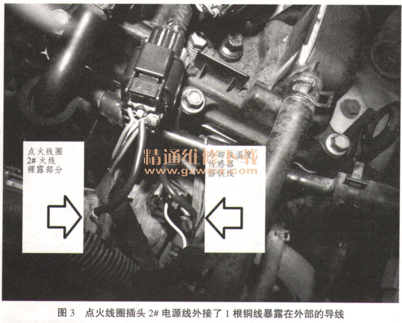 现代悦动轿车行驶途中熄火故障检修高清图片