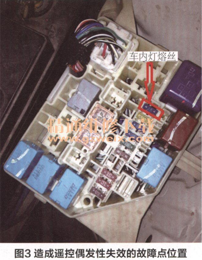 丰田威驰轿车遥控钥匙偶发性失灵高清图片