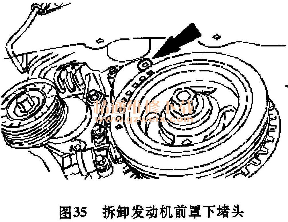2.0L发动机正时校对方法高清图片