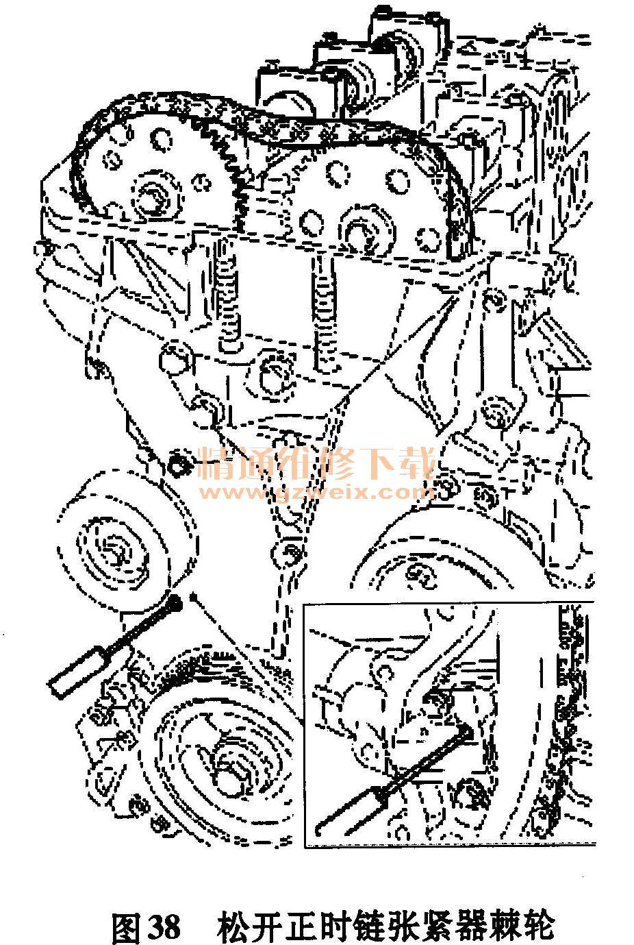 长安福特m14 1. 8l/2.0l发动机正时校对方法